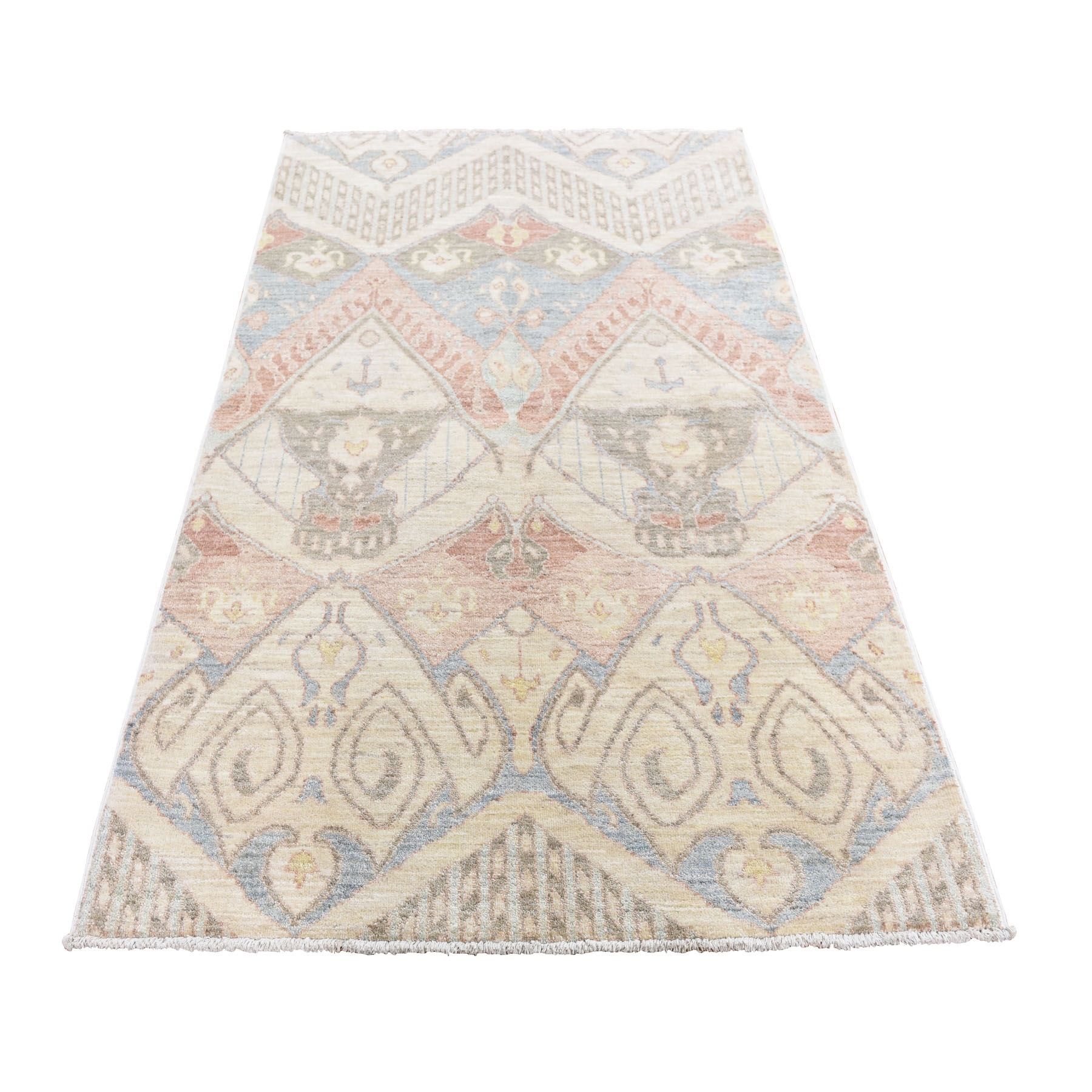 ikat and suzani design rugs LUV423378