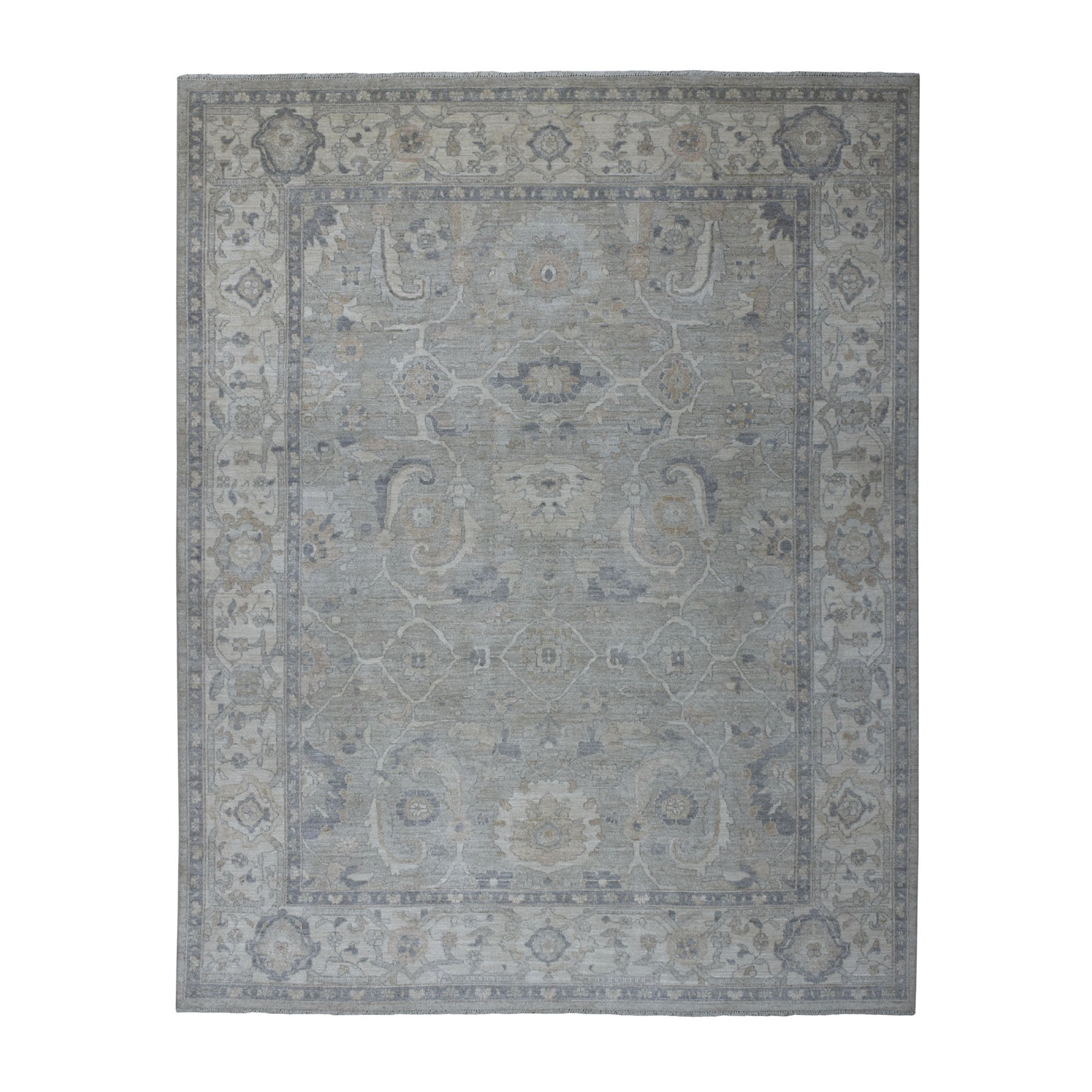 oushak and peshawar rugs LUV486099