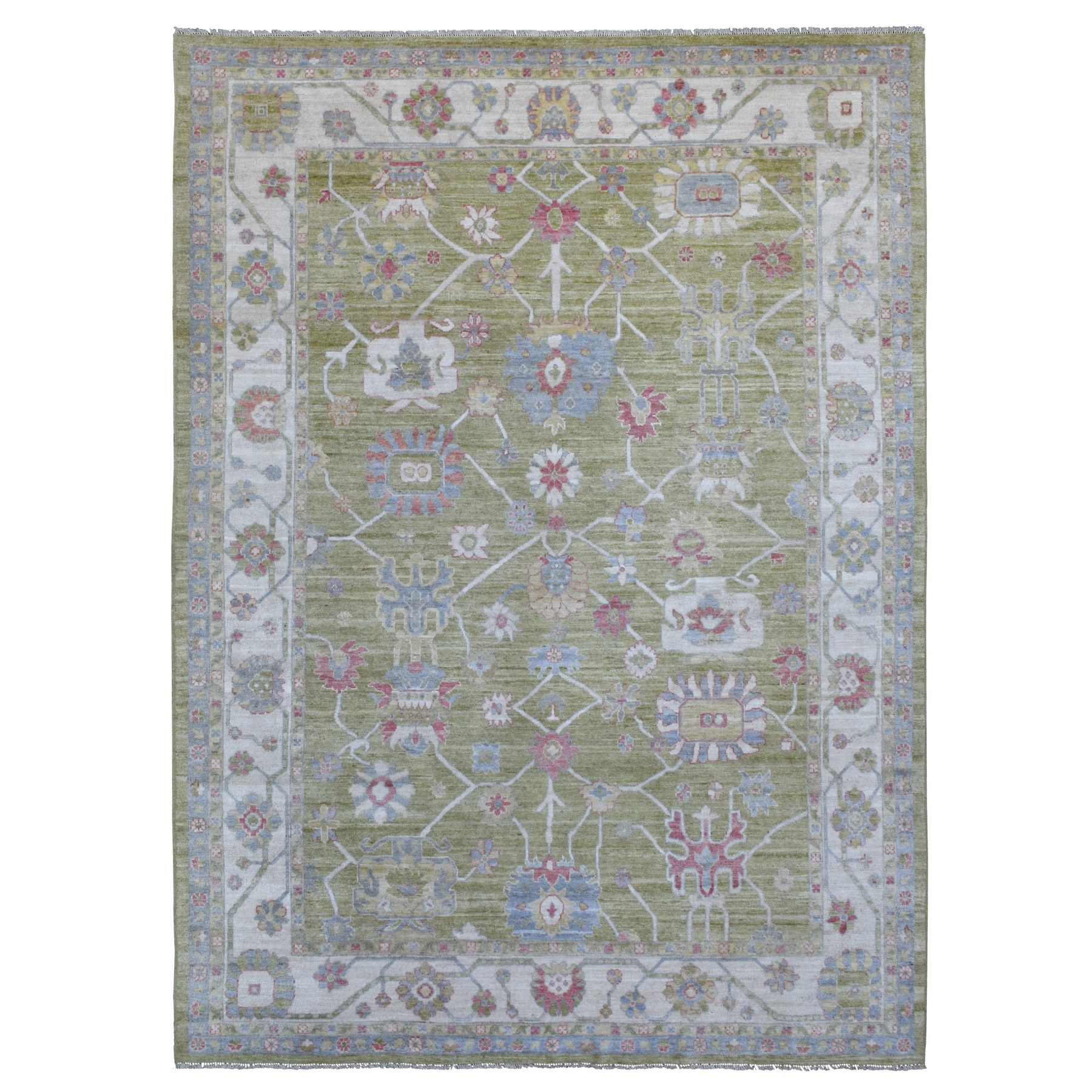 Oushak And Peshawar Rugs LUV604818